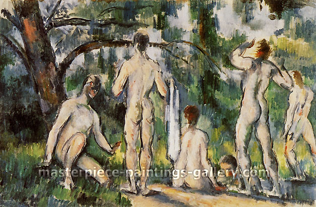 Paul Cézanne, Six Women | Le Bain, 1892, oil on canvas, 16.2 x 24.5 in. / 41 x 62.3 cm, US$280