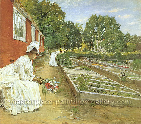 William Merritt Chase, The Greenhouse, 1890, oil on canvas, 29 x 32 in. / 73.6 x 81.3 cm, US$380