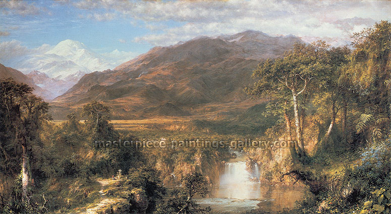 Frederick Edwin Church, The Heart of the Andes, 1859, oil on canvas, 26.6 x 48 in. / 67.5 x 121.9 cm, US$2100