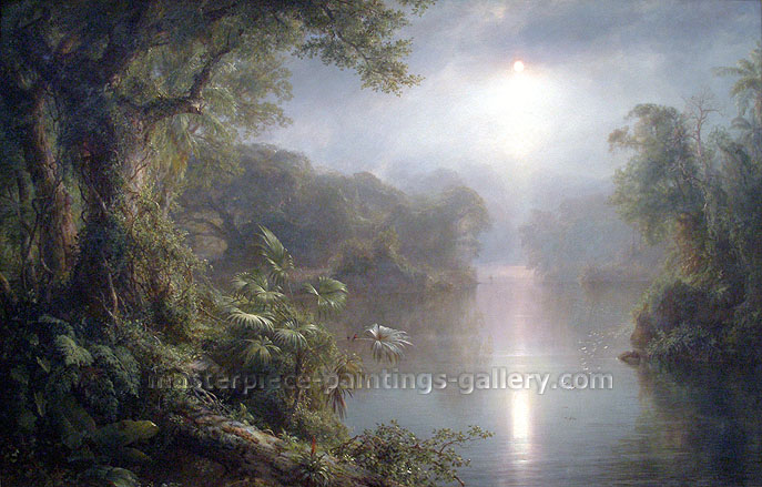 Frederic Edwin Church, Morning in the Tropics, 1877, oil on canvas, 15.5 x 24 in. / 39.4 x 61 cm, US$375
