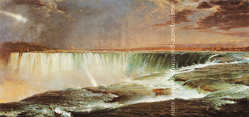 Frederick Edwin Church, Niagara Falls, 1857, oil on canvas, 34 x 72.4 in. / 86.3 x 183.9 in. US$1,10