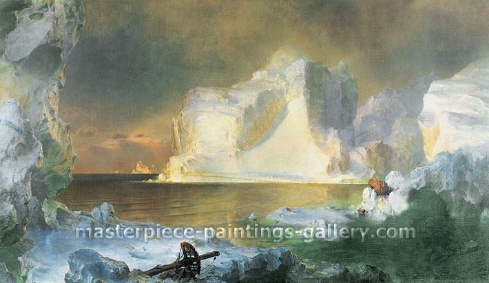 Frederic Edwin Church, The Icebergs | The North, 1861, oil on canvas, 45 x 65.7 in. / 114.3 x 166.9 cm,US$1,10
