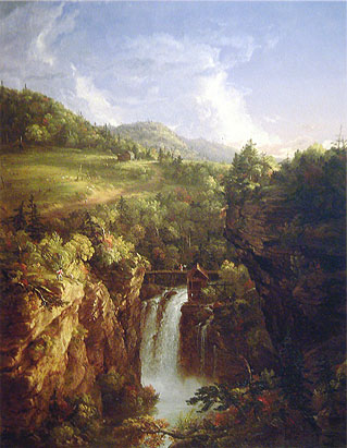 Thomas Cole, Genesee Scenery, 1847, oil on canvas, 51 x 39.5 in. / 129.5 x 100.3 cm, US$1,100