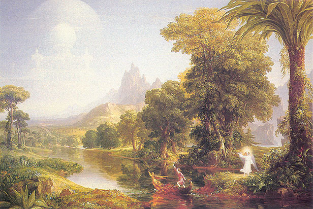 Thomas Cole, Journey of Life - Youth, 1840, oil on canvas, 15.4 x 23 in./ 58.4 x 39.2 cm, US$480