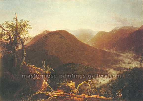 Thomas Cole, Sunrise in the Catskills, 1826, oil on canvas, 33.8 x 47.7 in. / 85.7 x 121.1 cm, US$970
