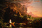 Thomas Cole, Journey of Life - Childhood, 1842, oil on canvas, 15.5 x 23 in./ 58.4 x 39.5 cm, US$290