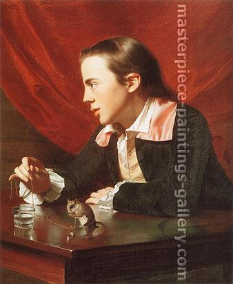 John Singleton Copley, Henry Pelham | Boy with a Squirrel, 1765, oil on canvas, 30.3 x 25 in. / 76.8 x 63.5 cm, US$350