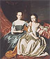 John Singleton Copley, Mary and Elizabeth Royall, 1758, oil on canvas, 50.5 x 48 in. / 128.3 x 121.9 cm, US$570