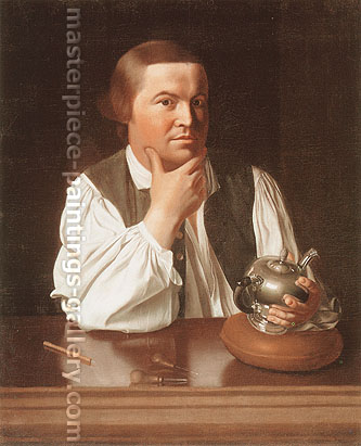 John Singleton Copley, Paul Revere, 1768-70, oil on canvas, 35 x 28.5 in. / 88.9 x 72.4 cm, US$400
