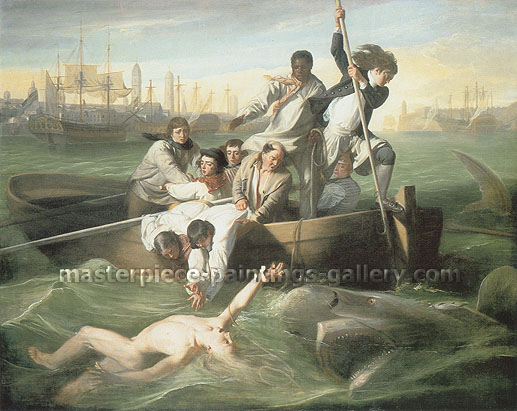 John Singleton Copley, Watson and the Shark, 1778, oil on canvas, 37.5 x 47.2 in. / 95.1 x 120 cm, US$600