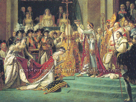 Jacques-Louis David, Consecration of Emperor Napoleon I and Coronation of Empress Josephine (Detail 1), 1807, oil on canvas, 35.4 x 47.2 in. / 90 x 120 cm, US$1,050