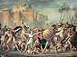 Jacques-Louis David, Intervention of the Sabine Women, 1799, oil on canvas, 151.6 x 205.5 in. / 385 x 522 cm, US$3,400