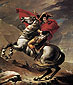 Jacques-Louis David, Napoleon on Horseback at the St. Bernard Pass | Napoleon Bonaparte Crossing St Bernard Pass | Napoleon at St. Bernard Pass | Bonaparte at Mont St. Bernard | The First Consul Crossing the Alps at the Grand-Saint-Bernard Pass, 1801, oil on canvas, 84 x 71.1 in. / 213.4 x 180.8 cm, US$1,200