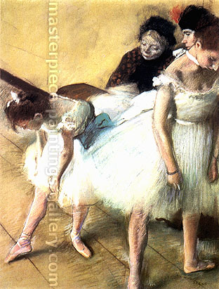 Edgar Degas, Before the Exam, 1880, oil on canvas, 24.4 x 18.1 in. / 62 x 46 cm, US$280