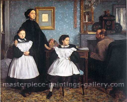 Edgar Degas, The Bellelli family, 1860, oil on canvas, 26 x 32.5 in. / 66 x 82.6 cm, US$350