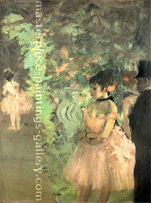 Edgar Degas, Dancers Backstage, 1872, oil on canvas, 22.7 x 18 in. / 57.6 x 45.6 cm, US$265