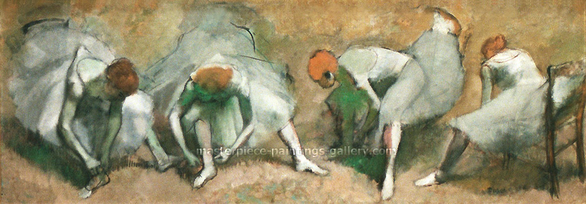 Edgar Degas, Frieze of Dancers, 1895, oil on canvas, 27.6 x 78.9 in. / 70 x 200.5 cm, US$900