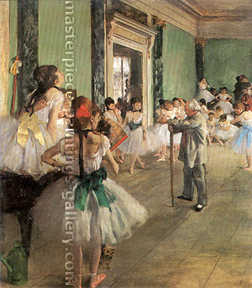 Edgar Degas, The Dancing Class, oil on canvas, 33.5 x 29.5 in. / 85 x 74.9 cm, US$330