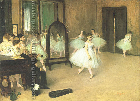 Edgar Degas, The Dancing Class, 1871, oil on canvas, 23.6 x 31.9 in. / 60 x 81 cm, US$330