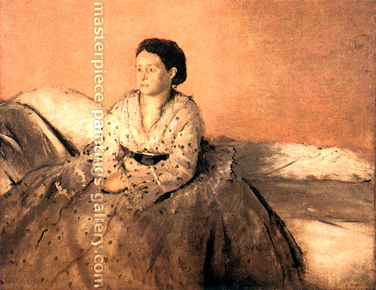 Edgar Degas, Estelle Musson de Gas, 1872-73, oil on canvas, 28.7 x 36.2 in. / 73 x 92 cm, US$300