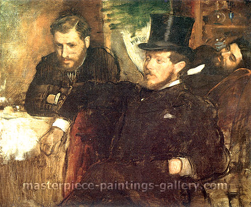 Edgar Degas, Portrait of Jeantaud, Linet and Laine, 1871, oil on canvas, 19.4 x 23.5 in. / 49.4 x 59.8 cm, US$330