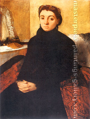 Edgar Degas, Josephine Gaujelin, 1868, oil on canvas, 23.2 x 17.3 on. / 59 x 44 cm, US$265