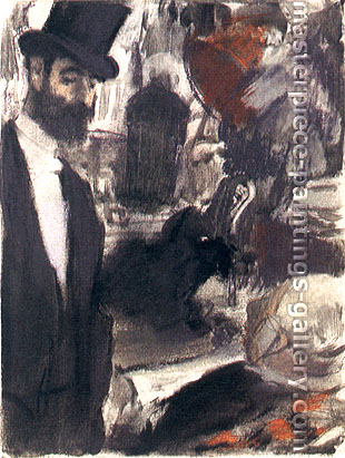 Edgar Degas, Ludovic Halevy and MME Cardinal, 1883, oil on canvas, 25.2 x 18.9 in. / 63.9 x 48 cm, US$320