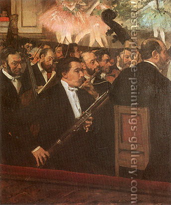 Edgar Degas, The Opera Orchestra, 1868, oil on canvas, 22.3 x 18.8 in. / 56.6 x 47.8 cm, US$330