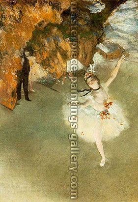 Edgar Degas, The Star | L'Etoile | Dancer on Stage | L'etoile | La danseuse sur la scene, 1878, oil on canvas, 23.6 x 17.3 in. / 60 x 44 cm, US$280