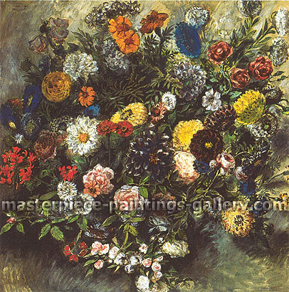 Eugene Delacroix, Bouquet of Flowers, 1849, oil on canvas, 25.6 x 26.2 in. / 65 x 65.4 cm, US$290
