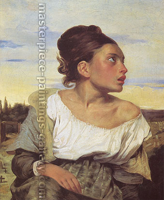 Eugene Delacroix, Orphan Girl at the Cemetary | Girl Seated in a Cemetary, 1824, oil on canvas, 25.7 x 21.4 in. / 65.5 x 54.3 cm, US$330