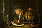 Gerard Dou, Astronomer by Candlelight, 1658, oil on canvas, 16 x 14.8 in. / 40.6 x 37.6 cm, US$245