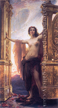 Herbert James Draper, Gates of Dawn | Aurora, 1900, oil on canvas, 47.2 x 24 in. / 120 x 61.2 cm, US$630