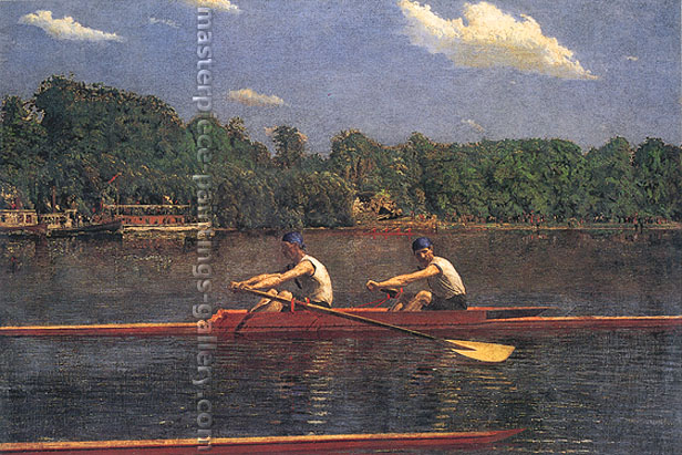 Thomas Eakins, The Biglin Brothers Racing, 1872, oil on canvas, 24 x 35.8 in. / 61 x 91 cm, US$340