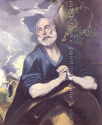 El Greco, Saint Peter in Tears, 1580, oil on canvas, 42.5 x 35.3 in. / 108 x 89.5 cm, US$490