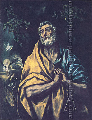 El Greco, Saint Peter in Tears, 1610, oil on canvas, 40.1 x 31.3 in. / 101.9 x 79.4 cm, US$460