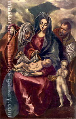 El Greco, Holy Family, 1597-1601, oil on canvas, 44.1 x 27.1 in. / 112 x 68.8 cm, US$500