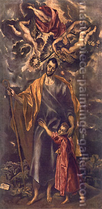 El Greco, St.Joseph and The Child, 1599-1602, oil on canvas, 44.5 x 22.5 in. / 113 x 57.2 cm, US$470