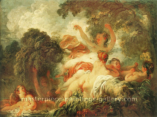 Jean Honore Fragonard, The Bathers, 1762-64, oil on canvas, 25.3 x 31.5 in. / 64 x 80 cm, US$400