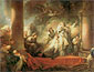 Jean Honore Fragonard, Coresus Sacrifices Himself to Save Callirhoe, 1765, oil on canvas, 33.2 x 39.4 in. / 84.3 x 100 cm, US$500