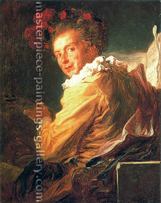 Jean Honore Fragonard, Portrait of Fantaisie Monsieur de La Breteche, 1769, oil on canvas, 31.5 x 25.7 in. / 80 x65 cm, US$400
