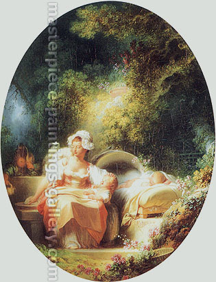 Jean Honore Fragonard, The Good Mother, 1773, oil on canvas, 23.7 x 19 in. / 60.1 x 48.2 cm, US$300