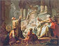 Jean Honore Fragonard, Jeroboam Sacrificing to Idols, 1752, oil on canvas, 45.3 x 57.9 in. / 115 x 145 cm, US$800