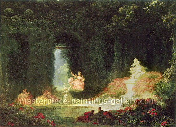 Jean Honore Fragonard, The Little Swing, 1770, oil on canvas, 20.5 x 28.1 in. / 52 x 71.2 cm, US$350