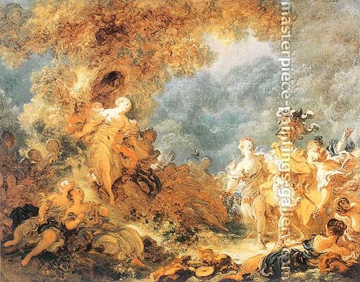Jean Honore Fragonard, Rinaldo in the Gardens of Armina, 1764, oil on canvas, 28.4 x  35.9 in. / 72 x 91 cm, US$450