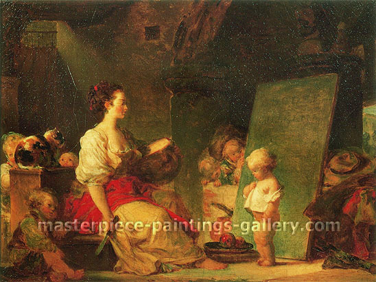 Jean Honore Fragonard, The Schoolmistress (Say 'Please'!), 1770, oil on canvas, 22.8 x 29.9 in. / 58 x 76 cm, US$380