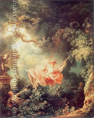 Jean-Honore Fragonard, The Swing, 1767, oil on canvas, 32.6 x 26 in. / 82.9 x 66 cm, US$435