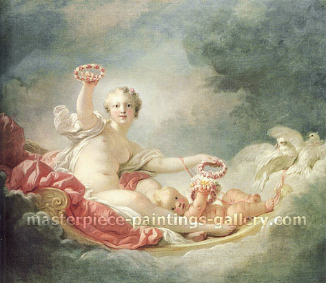 Jean Honore Fragonard, Venus and Cupid | Day, 1752-53, oil on canvas, 44.9 x 52.4 in. / 114 x 133 cm, US$700