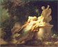 Jean Honore Fragonard, The Vow to Love, 1780, oil on canvas, 20.5 x 24.8 in. / 52 x 63 cm, US$310