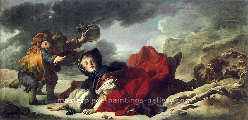 Jean Honore Fragonard, Winter, 1753-56, oil on canvas, 31.5 x 64.5 in. / 80 x 164 cm, US$780